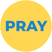 Pray circle yellow