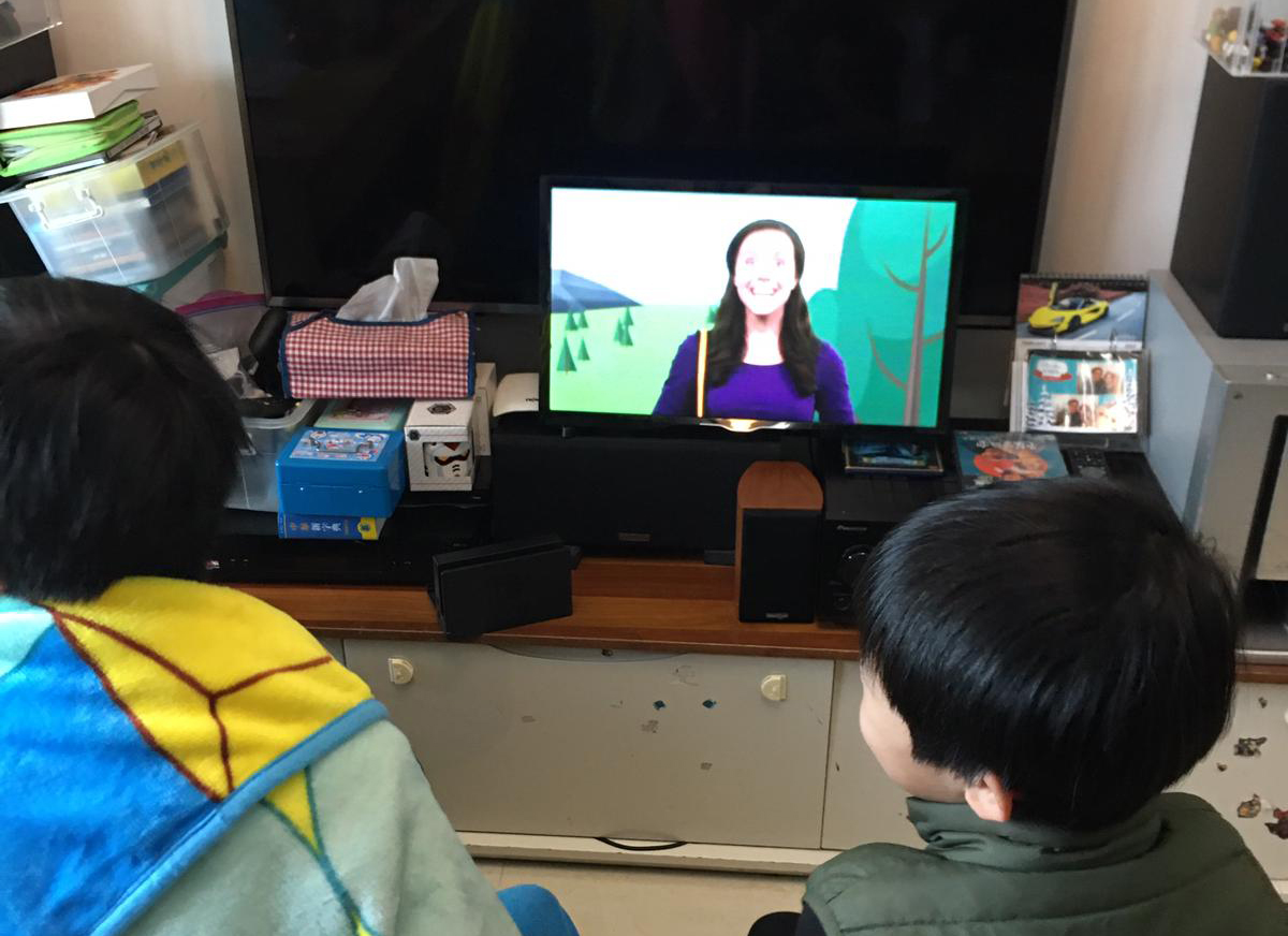 Kids from Faith Family Church joining the service from home with their families (the wonderful Life Church Open Network children's video is an integral part of our Kids Church experience)